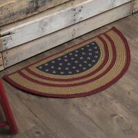 VHC Americana Rug Liberty Stars Flag Flooring Red Jute Star Stenciled