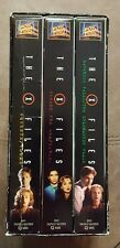 THE X FILES BOX SET 3 VHS TAPES 1996 MULDER SCULLY DIGITALLY MASTERED