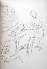 Lithography original - George Grosz - Ecce Homo - Esplanade - 1923