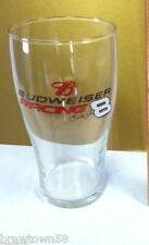 Budweiser Racing beer glass barware brewery bar tavern pub IB6