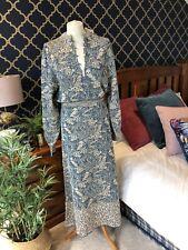 ZARA Mid Turquoise Jacquard Midi Dress MEDIUM BNWT