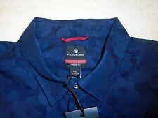 Victorinox 100% Cotton Navy Camo Pattern Wilen Sport Shirt XXL NWT $165