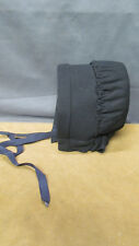 Authentic Indiana Amish Black Outer Bonnet Cap Covering