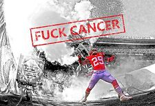 Eric Berry F*CK CANCER University of Tennessee KC Chiefs unsigned 8x10 photo