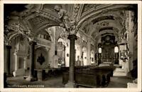 Benediktbeuren Bayern  Postkarte 1952 gelaufen Innenansicht der Klosterkirche