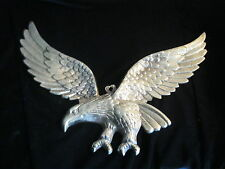 "VINTAGE WALL HANGER- METAL SPREAD EAGLE FIGURINE- 13-3/4"" WING SPAN"