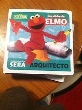 SESAME STREET IN SPANISH--LOS OFICIOS DE ELMO---ARQUITECTO--NEW IN PLASTIC
