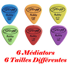 6 Mediators 6 Tailles de 1,14 à 0,50 mm Plectre Ruby Standart   6 Couleurs