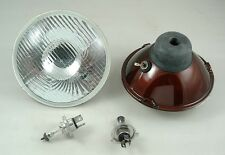 Mini Morris Moke Clubman Leyland H4 Halogen Curved Headlight Kit 100/80w output