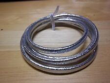 "1 Yard SILVER 1/4"" Mylar Tubing Piping Fly Tying Minnow Bodies"