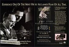SCHINDLER'S LIST__Original 1994 Trade Print AD / movie promo__STEVEN SPIELBERG