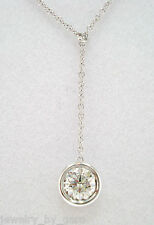 PLATINUM 1.01 CARAT SOLITAIRE DIAMOND BY THE YARD PENDANT NECKLACE