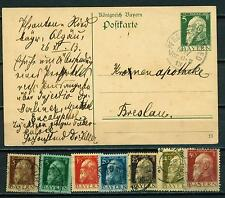 Germany Bayern/Bavaria old classic stamps and Postcard lot 1913
