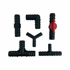 More details for pond hose pipe fitting hosetails flexible tubing straight / elbow / tee / valve