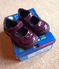Richter Infant Girls Maroon Patent Leather Shoe Size 21(UK4.5)