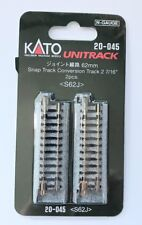 "Kato N Scale 20-045 62mm (2 7/16"") Snap-Track Conversion Track 2 pcs S62J"