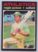 "1971  REGGIE JACKSON - Topps -""REPRINT"" Baseball Card # 20 - OAKLAND ATHLETICS"