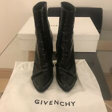 Givenchy Black Leather Ankle Boots Size 40