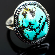 Tibetan Turquoise 925 Sterling Silver Ring Size 7.5 Ana Co Jewelry R996741F