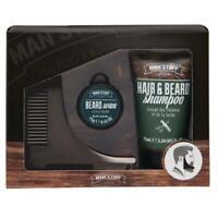 Man Stuff Shape 'n' Spruce Beard Kit Stocking Filler Gift