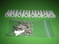 """1 Pin Molex Connector Lot, 8 Matched Sets, w/18-22 AWG .093"""" Pins, Free Hanging"""