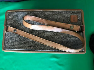 Vtg Hartmann Tweed Leather Train Case Cosmetics Lockable Luggage With Mirror