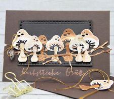 Mushroom Metal Cutting Dies Scrapbooking Cards Making Paper Craft Cards Stencils