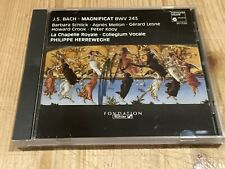 Signed by PHILIPPE HERREWEGHE Bach Magnificat ORIG HARMONIA MUNDI CD W. Germany