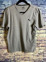 Size Medium PUMA Mens V-neck Tee T-shirt Medium Gray Heather Free Shipping 🔥🔥