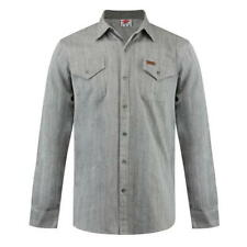 Mens Branded Lee Cooper Stylish Soft Touch Cotton Pocket Denim Shirt Size S-XXL