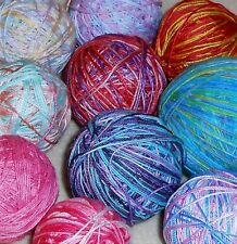LOT H Hand Dyed Embroidery Knit Tatting Crochet Thread Variegated Rainbow Sz 10