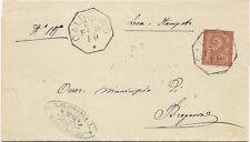 P6307   Vicenza, Caldogno, annullo ottagonale 1889