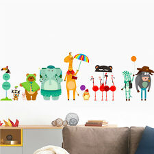 Animals Wall Stickers Kids Removable Vinyl Decal Nursery Decor Art Bear Zebra