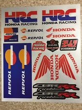 2 Pack Honda Reflective Mx stickers decals graphics Sheet waterproof Repsol Hrc