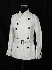 Old Navy Ivory Colored Belted Rain Jacket Weatherproof Waterproof Small S