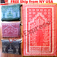 Muslim Travel Mat,Islamic Prayer Rug janamaz Turkish Sajda Mat Best Quality- RED