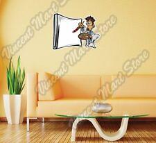 "Paint Paintbrush Artist Painter Canvas Wall Sticker Room Interior Decor 25""X20"""