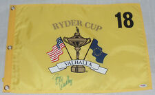 BOO WEEKLEY SIGNED AUTO'D 2008 RYDER CUP FLAG PSA/DNA COA I42426 VALHALLA USA