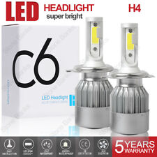 Cob H4 Led Headlight Kit Light Bulbs High Low Beam 6000k Hb2 9003 100w 20000lm Fits 1999 Mitsubishi Mirage