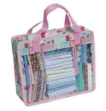Fat Quarter Quilters Storage Bag Mini for fabric in blue - pink patchwork rose