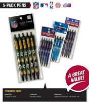 NFL Team Click Pens 5 pack Officially Licensed - Black Ink - Pick Your Team