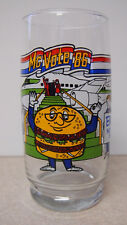 1986 McDonald's QUARTER POUNDER WITH CHESSE MC VOTE 86  6'' PROMO GLASS