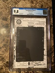 Department Of TRUTH 9 CGC 9.8 John Lennon Cover Redacted Blank Limited to 400