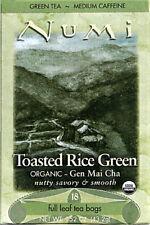 Toasted Rice Green Tea Gen Mai Cha, Numi Organic Tea, 18 tea bag