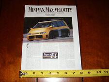 1995 RENAULT ESPACE F1 MINI VAN ROAD RACER ORIGINAL ARTICLE