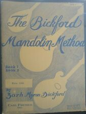 The Bickford Mandolin Method Book 1, Carl Fisher 1920 Excellent Condition