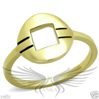Women's Yellow Gold Plated Classy Fashion Ring No Stone 5 6 7 8 9 10 TK2033