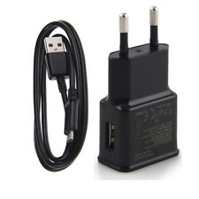Universa EU AC Wall Charger Power Adapter +Micro USB Data Charging Cable Cord BK