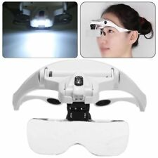 Head Magnifier With 2 LED Lights Magnifying Glass 5 * LensLED Lamp Headband
