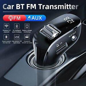 Dual USB Charger With Wireless Bluetooth FM Transmitter Kit MP3 Player Handsfree